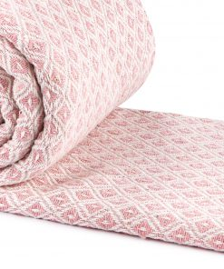Stockholm Cotton Throw Blush Pink