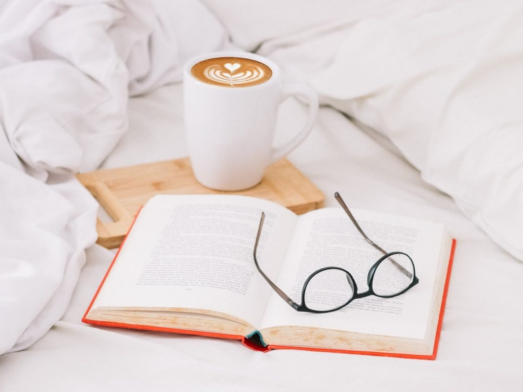 Coffee & Book In Bed