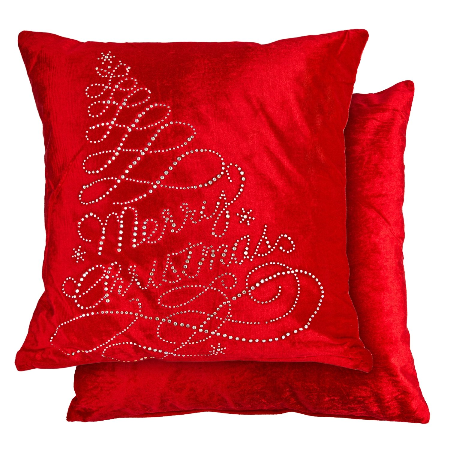 Twinkles Christmas Cushion Cover In Red Homefords